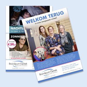 Brandpunt Optiek folder en flyer