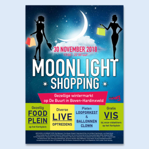 Moonlight Shopping poster en flyer